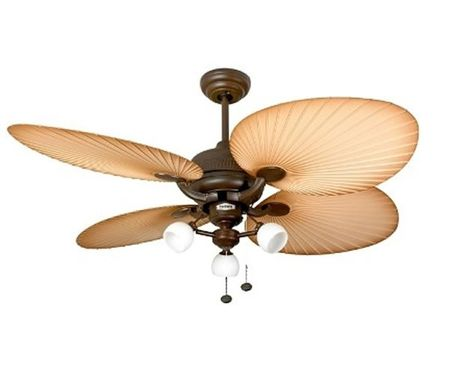 Deckenventilator Palm Chocolate Brown mit Anbauleuchte