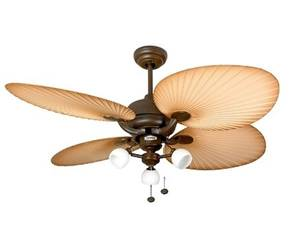 "Ceiling Fan Palm Florence 132cm / 52"" with Light"
