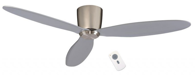 Low energy ceiling fan Eco Plano chrome brushed with remote