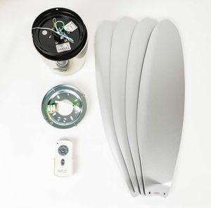 Deckenventilator Eco Plano Chrom mit Fernbedienung – Bild 9