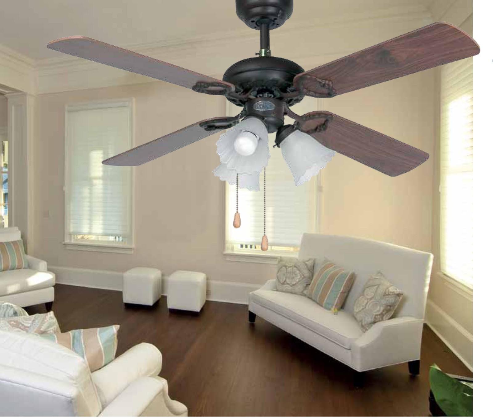 Faro ventilateur de plafond lisbo 107 cm avec clairage - Ventilateur de plafond avec eclairage ...