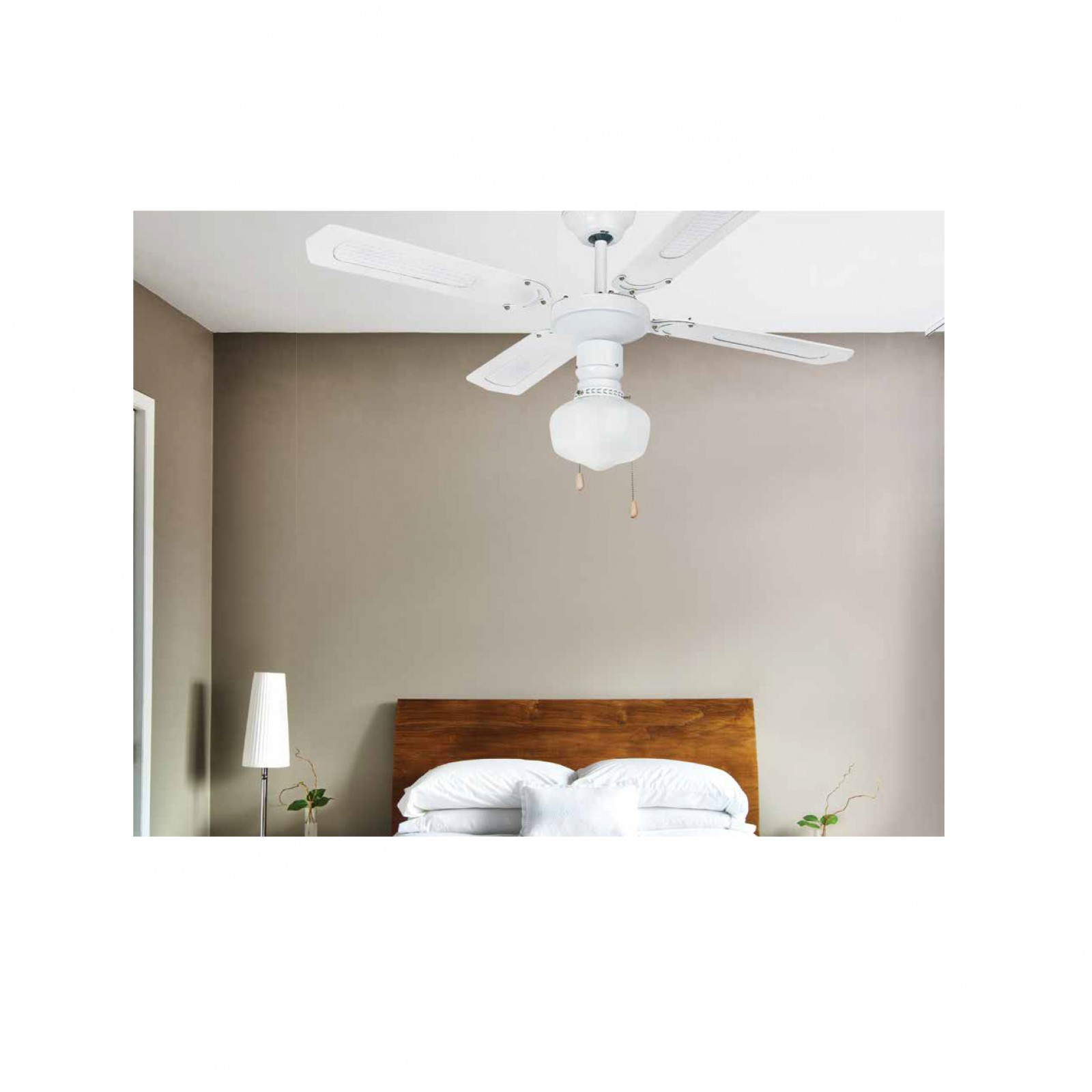 deckenventilator aruba wei mit licht zugschnur 106cm deckenventilator deckenventilatoren mit. Black Bedroom Furniture Sets. Home Design Ideas