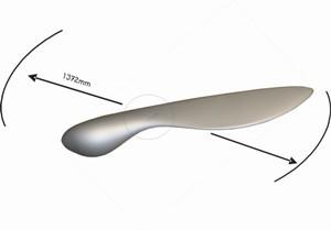 Deckenventilator Blade Alu gebürstet mit Fernbedienung – Bild 4