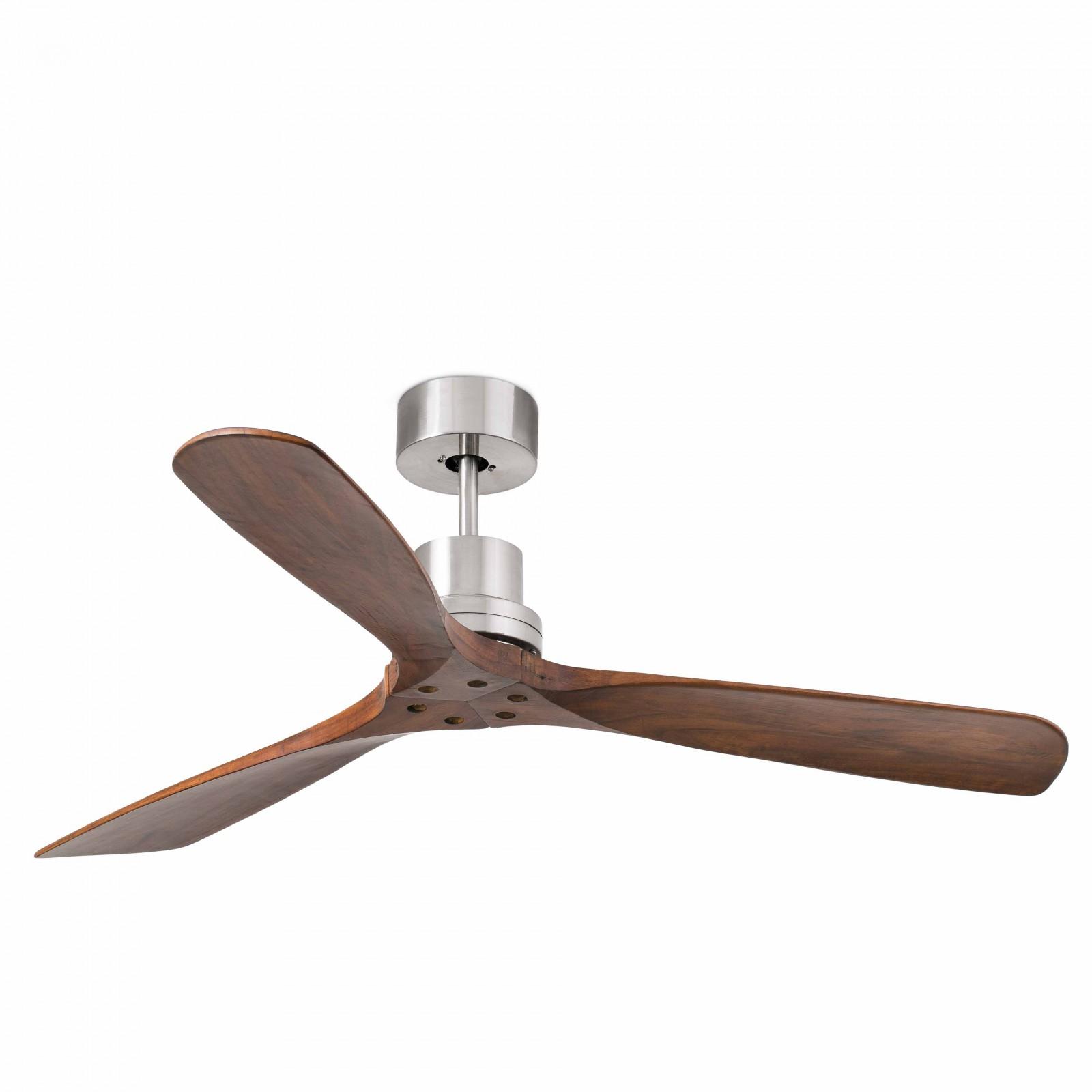 ceiling fans without lights remote control. Faro Ceiling Fan Lantau Nickel Matt Blades Walnut 132 Cm / 52\u0026quot; With Remote Control Fans Without Lights