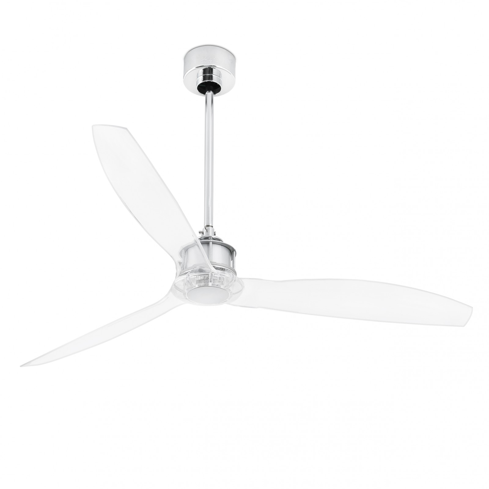 "Faro energy saving ceiling fan Just Fan chrome 128 cm 50 5"" with"