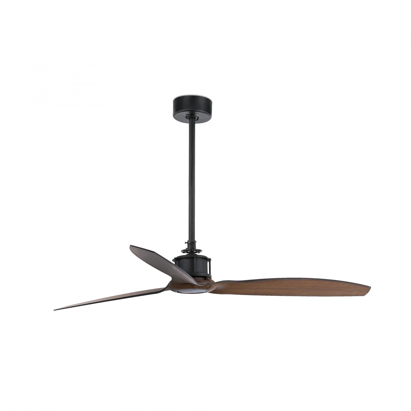 faro ventilateur de plafond basse consommation just fan noir 128 cm avec t l commande. Black Bedroom Furniture Sets. Home Design Ideas