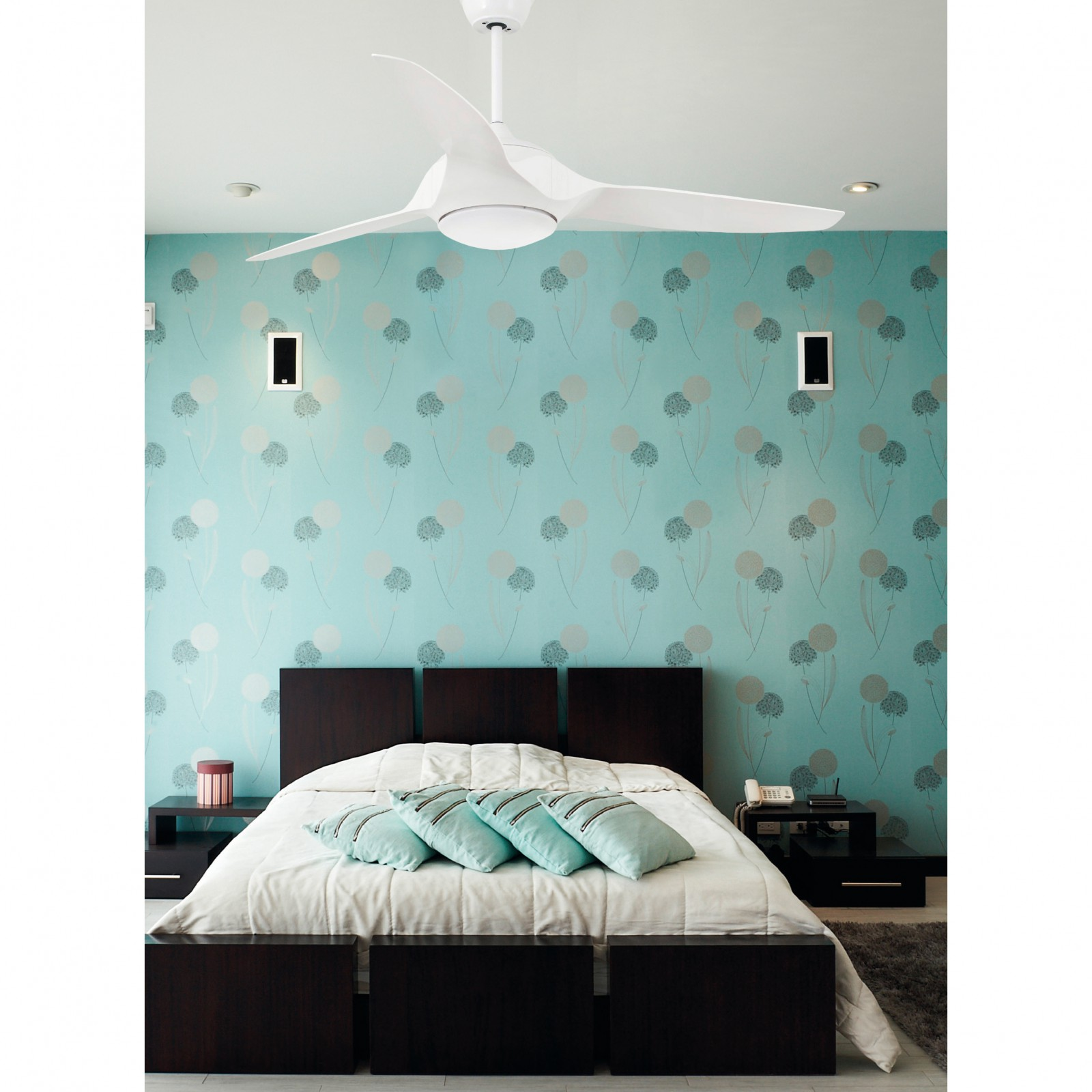 deckenventilator faro kailua wei 140 cm mit led licht. Black Bedroom Furniture Sets. Home Design Ideas