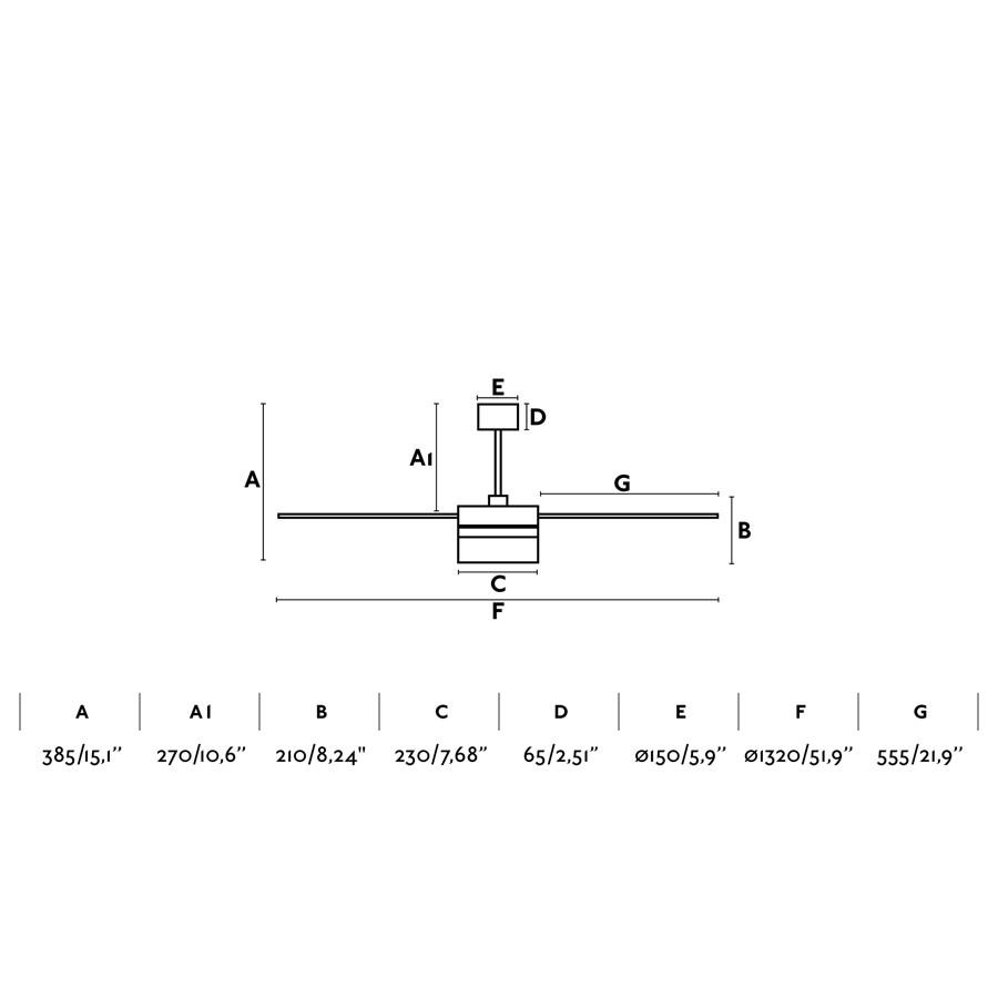 Deckenventilator Ice weiß 132 cm mit LED Beleuchtung | Creoven