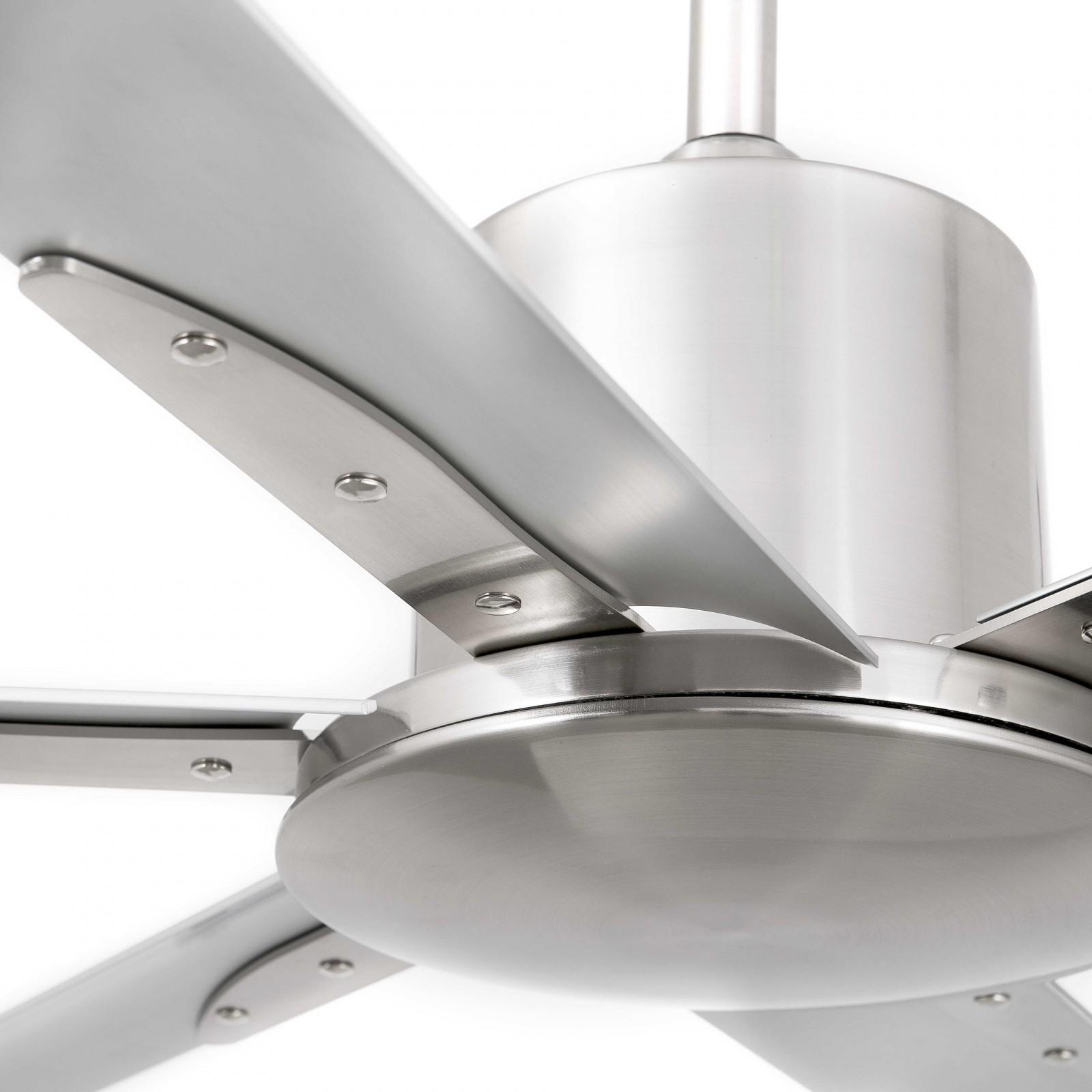 faro energy-saving ceiling fan andros nickel matt 213 cm / 84