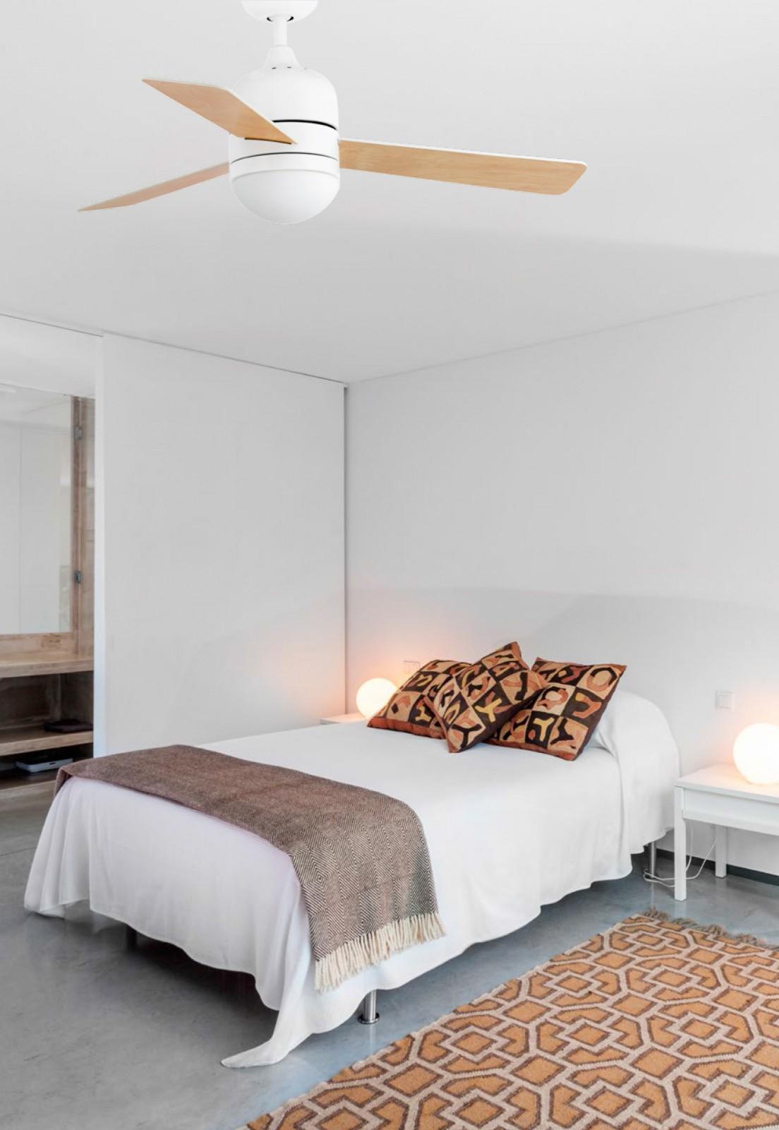 deckenventilator cebu wei 106 cm mit beleuchtung von faro. Black Bedroom Furniture Sets. Home Design Ideas