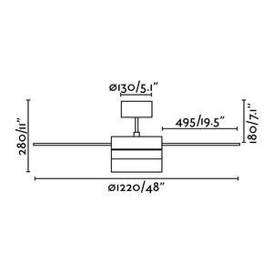 Deckenventilator Panay weiß 122 cm mit Beleuchtung – Bild 5