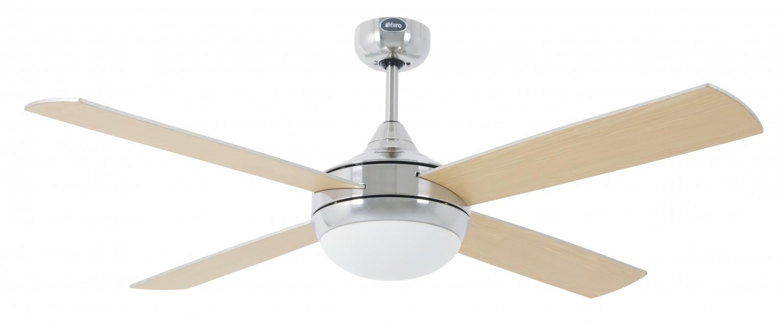 Faro ventilateur de plafond icaria aluminium 132 cm avec - Ventilateur de plafond avec eclairage ...