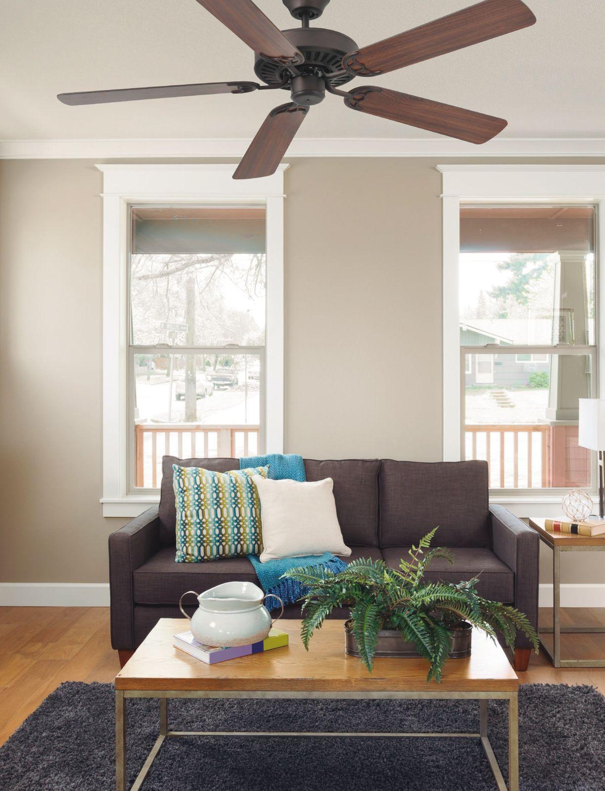 "Faro ceiling fan Aloha dark brown 132 cm 52"" with remote control"