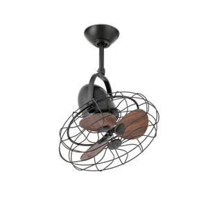 Ceiling fan / Wall fan Keiki Brown with wall control