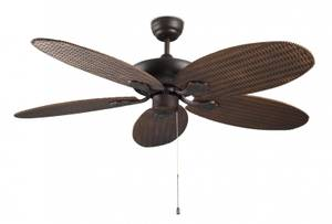 "Ceiling fan Phuket Brown 132cm / 52"" with pull cord"