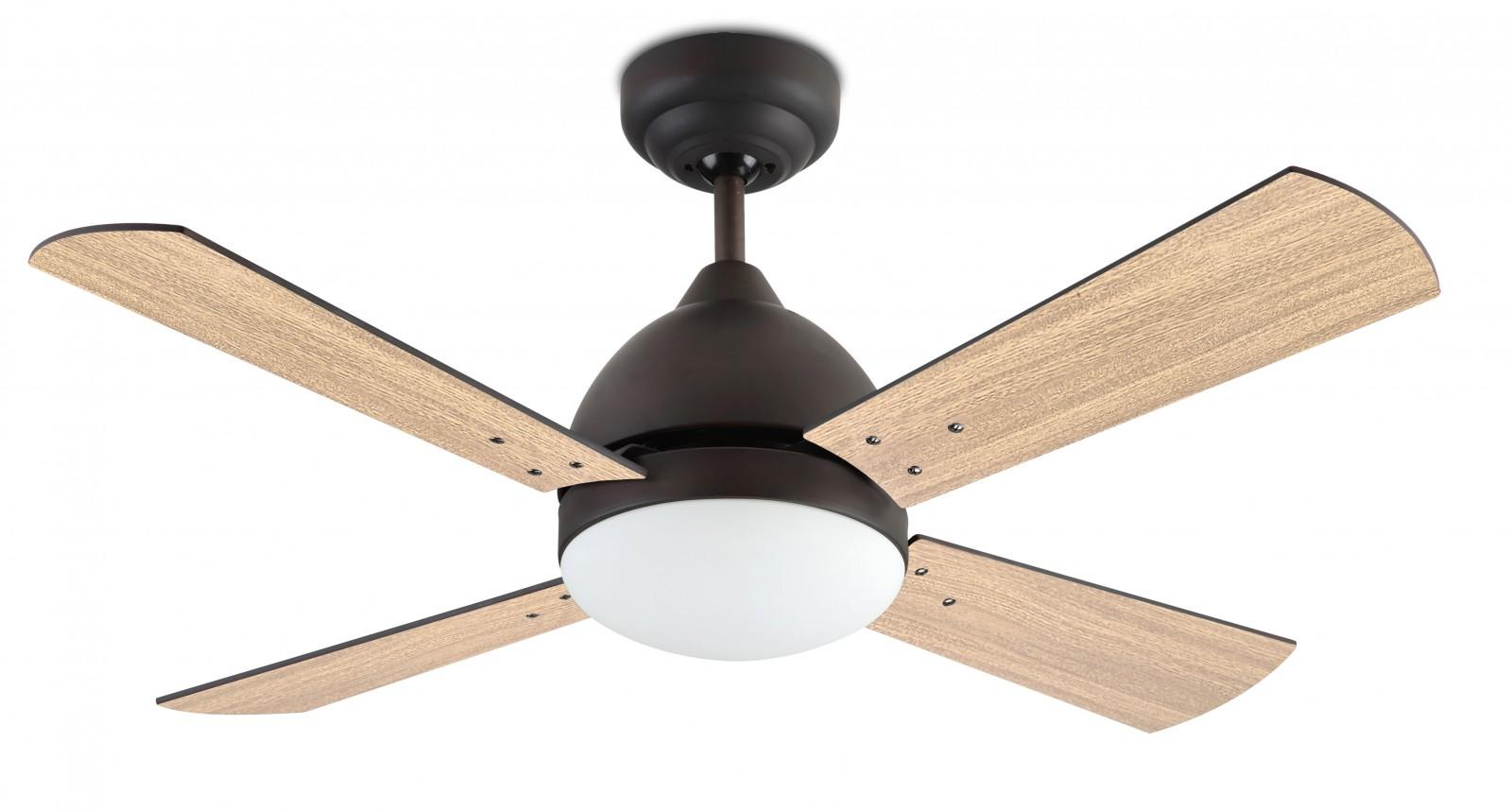 "leds-c4 design ceiling fan borneo brown 106.6 cm / 42"" with"