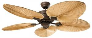 DC ceiling fan Eco Elements Brown antique with natural palm blades and remote control