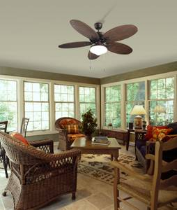 "Ceiling fan Phuket Brown 132cm / 52"" with light"