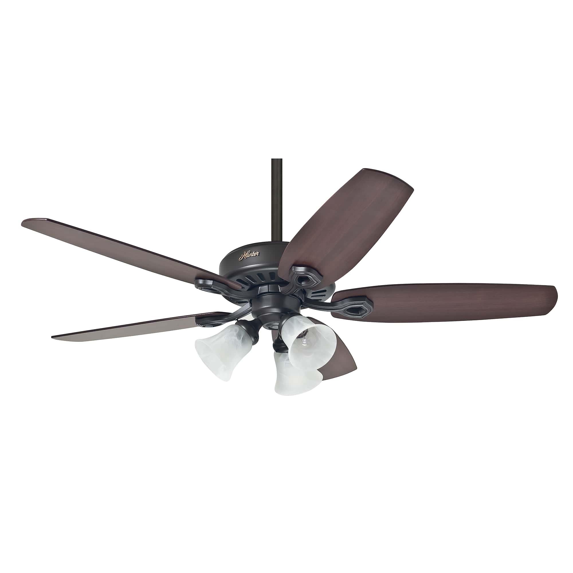 Hunter Ceiling Fan Builder Plus 132cm 52 Bronze Home Commercial Heaters Ventilation Ceiling Fans Uk