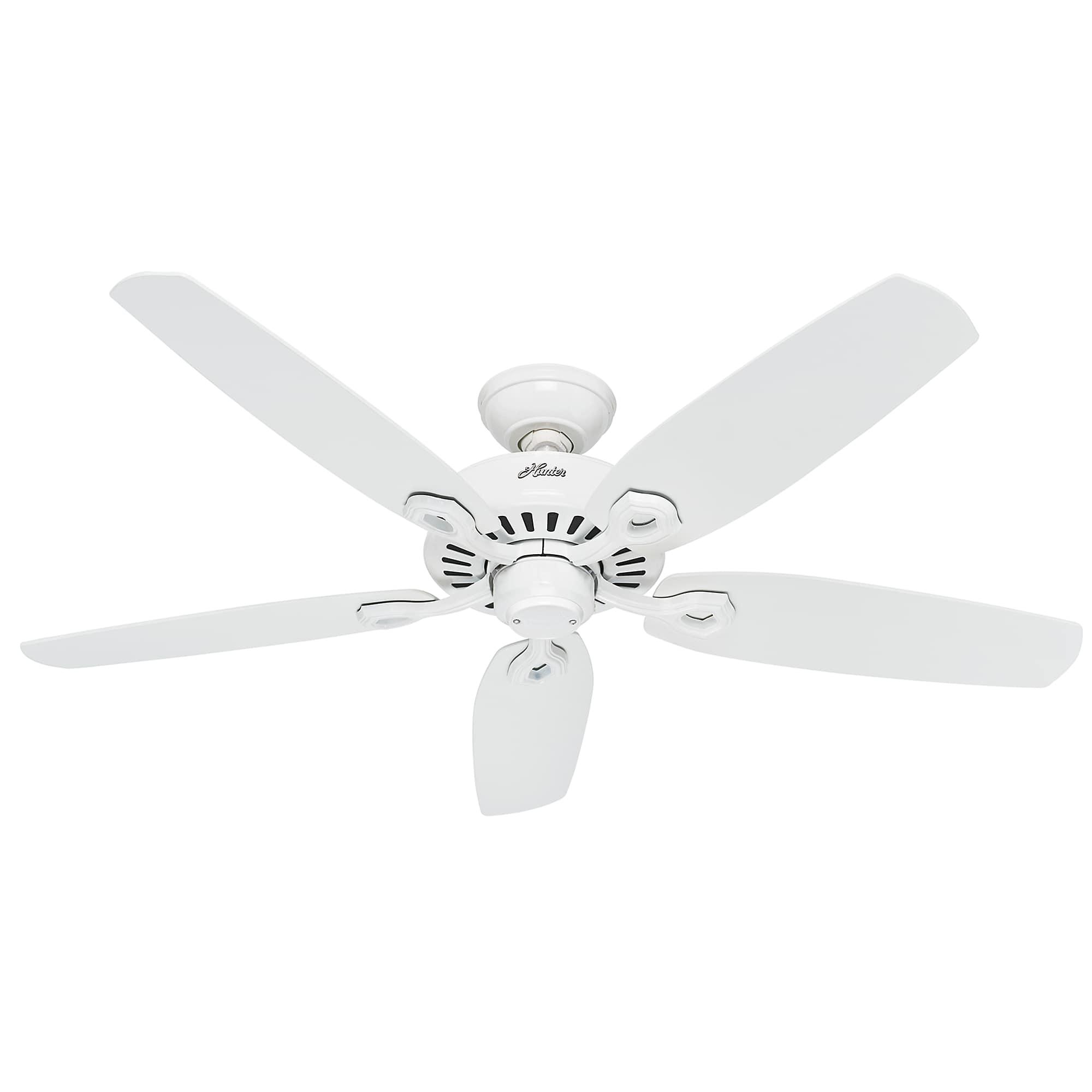 Hunter Ceiling Fan Builder Elite 132cm 52 White Home Commercial Heaters Ventilation Ceiling Fans Uk