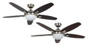Hunter Contempo Ceiling Fan with Light in Brushed Nickel 001