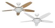 "Ceiling fan Contempo White 132cm / 52"" with light"