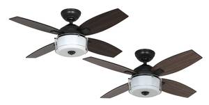 "Ceiling fan Central Park Steel 107cm / 42"" with light"