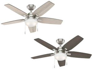 "Ceiling fan Arcot Nickel 117cm / 46"" with lights"