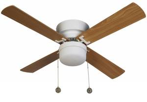 "Ceiling Fan Nordic White 107 cm / 42"" with lighting by Beacon"