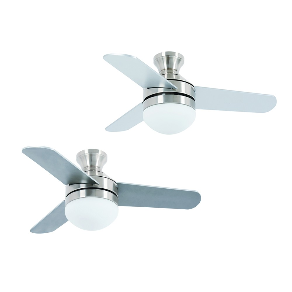 Ceiling fan girona satin nickel 91 cm 36 with light and remote ceiling fan girona satin nickel 91 cm 36 with light and remote control aloadofball Choice Image