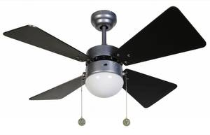 "Beacon ceiling fan Breezer Silver Grey 81 cm / 32"" with lighting"