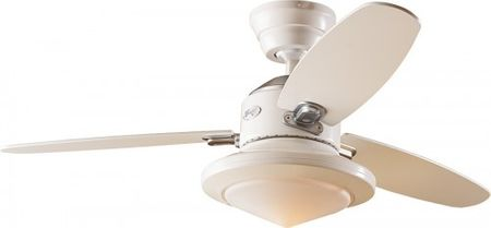 "Ceiling Fan Merced 112 cm / 44"" white with lighting"