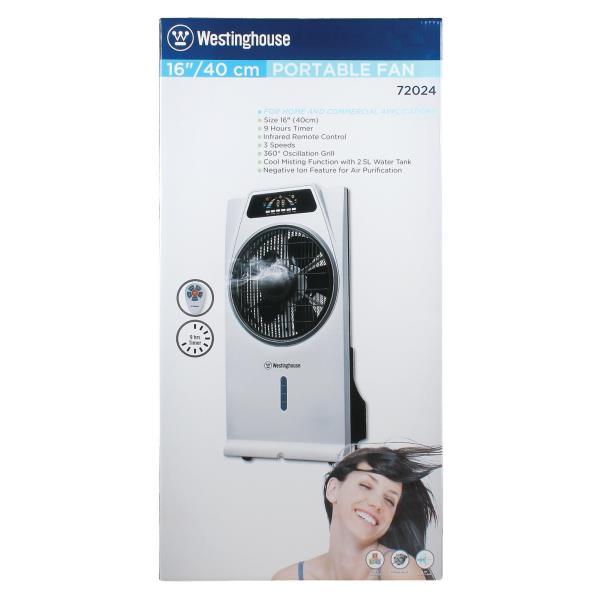 Westinghouse Portable Ventilateur sur pied avec brouillard fonction et à distance casacata