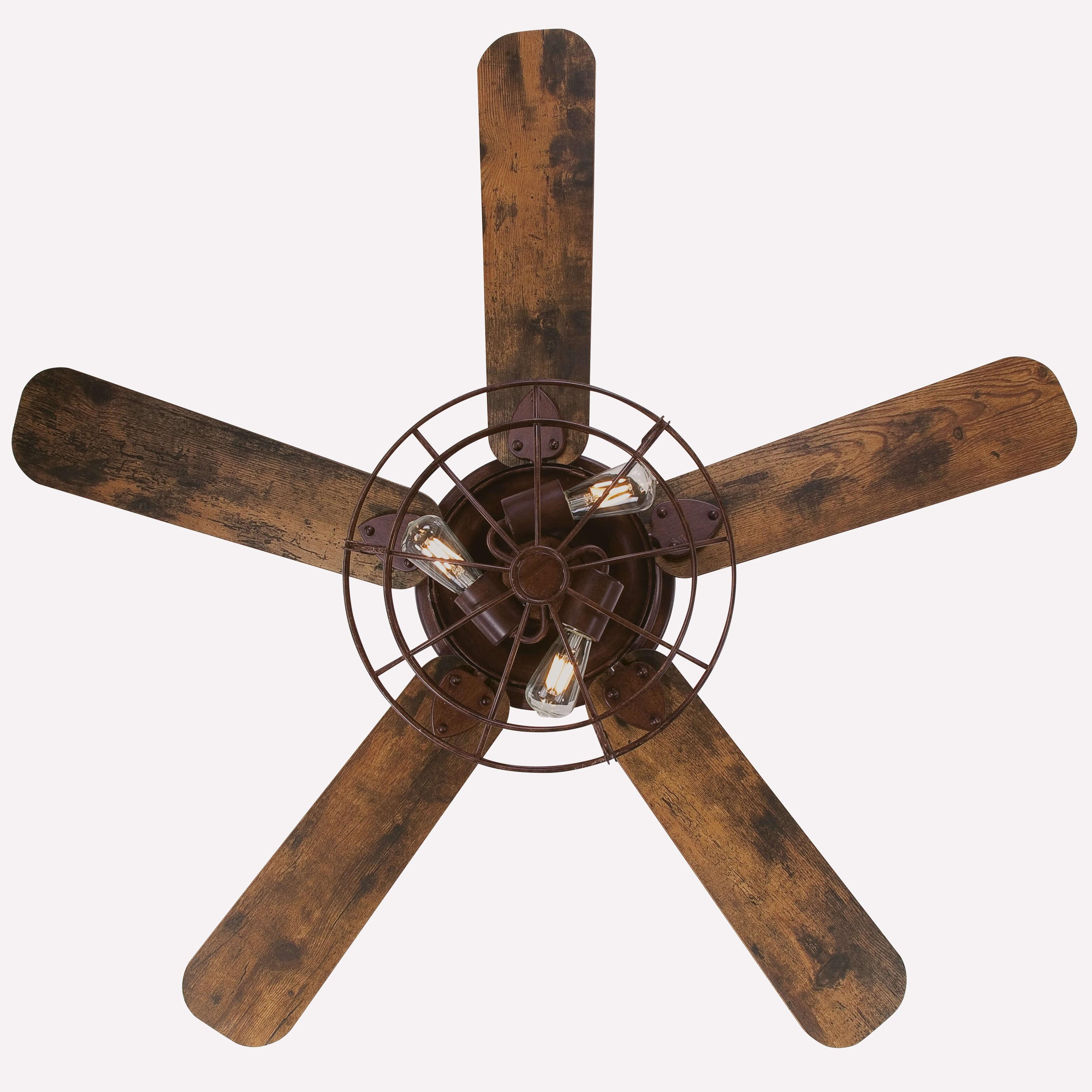Ceiling Fan Barnett Barnwood 122cm 48 Quot With Led Ceiling