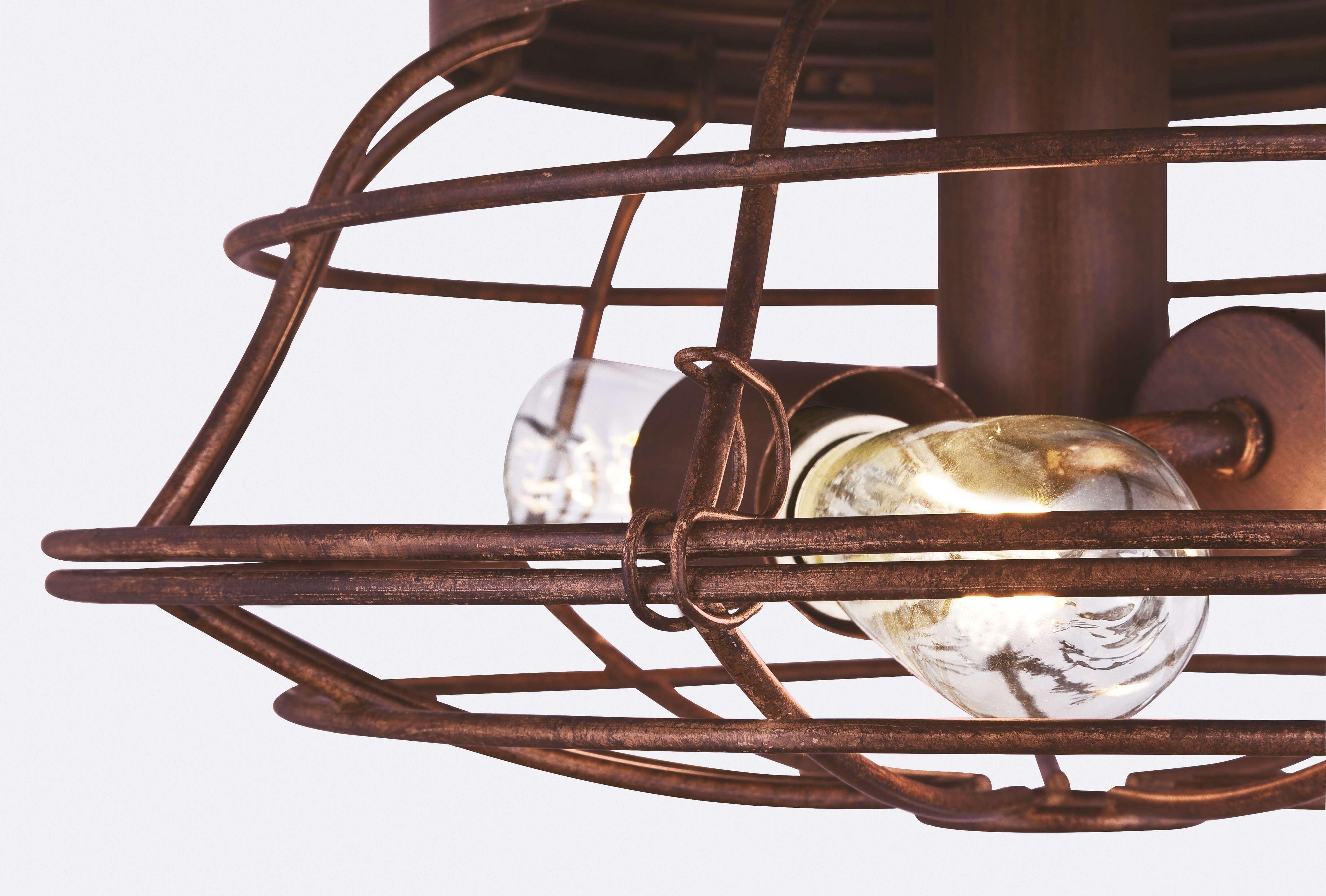 deckenventilator barnett braun 122 cm mit led leuchte. Black Bedroom Furniture Sets. Home Design Ideas
