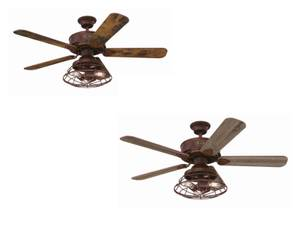 "Ceiling Fan Barnett Barnwood 122cm / 48"" with LED"