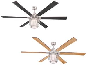 "Ceiling fan Willa 153cm / 60"" with LED light and remote"