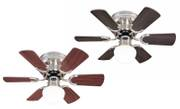 Ceiling fan Petite brushed nickel with pull cord 76 cm / 30""