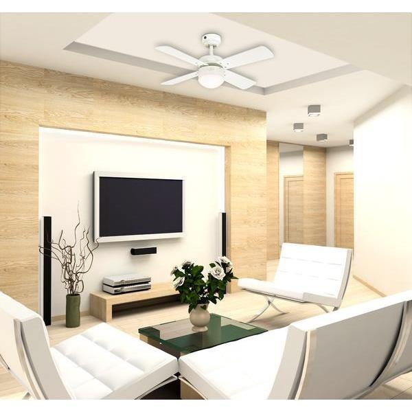 ventilateur de plafond colosseum blanc 90 cm avec led ventilateurs de plafond pour particulier. Black Bedroom Furniture Sets. Home Design Ideas