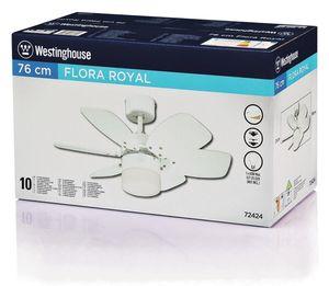 Westinghouse Deckenventilator / Licht Flora Royal weiß – Bild 6
