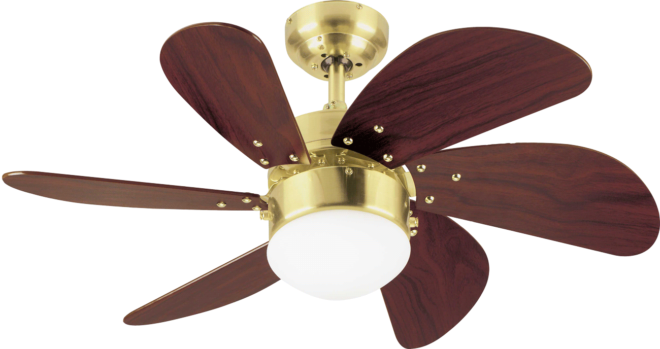 Westinghouse Ceiling Fan Turbo Swirl Satin Brass With Lighting Home Commercial Heaters Ventilation Ceiling Fans Uk