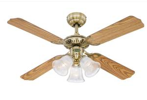 Westinghouse Deckenventilator Princess Trio Messing Antik