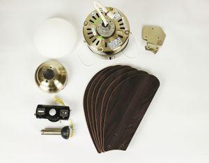 Deckenventilator Turbo Swirl Chrom mit Licht 105 cm – Bild 4