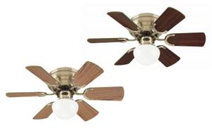 Ceiling fan Petite antique brass with pull cord 76 cm / 30""