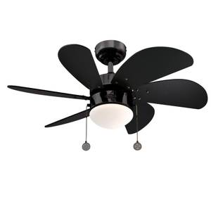 "Ceiling fan Turbo Swirl Gun Metal 76cm / 30"" with light"