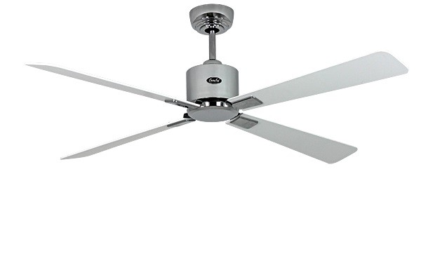 Energy saving ceiling fan eco neo ii 132 cm 52 brushed chrome energy saving ceiling fan eco neo ii 132 cm 52 brushed chrome blades white light grey mozeypictures Gallery