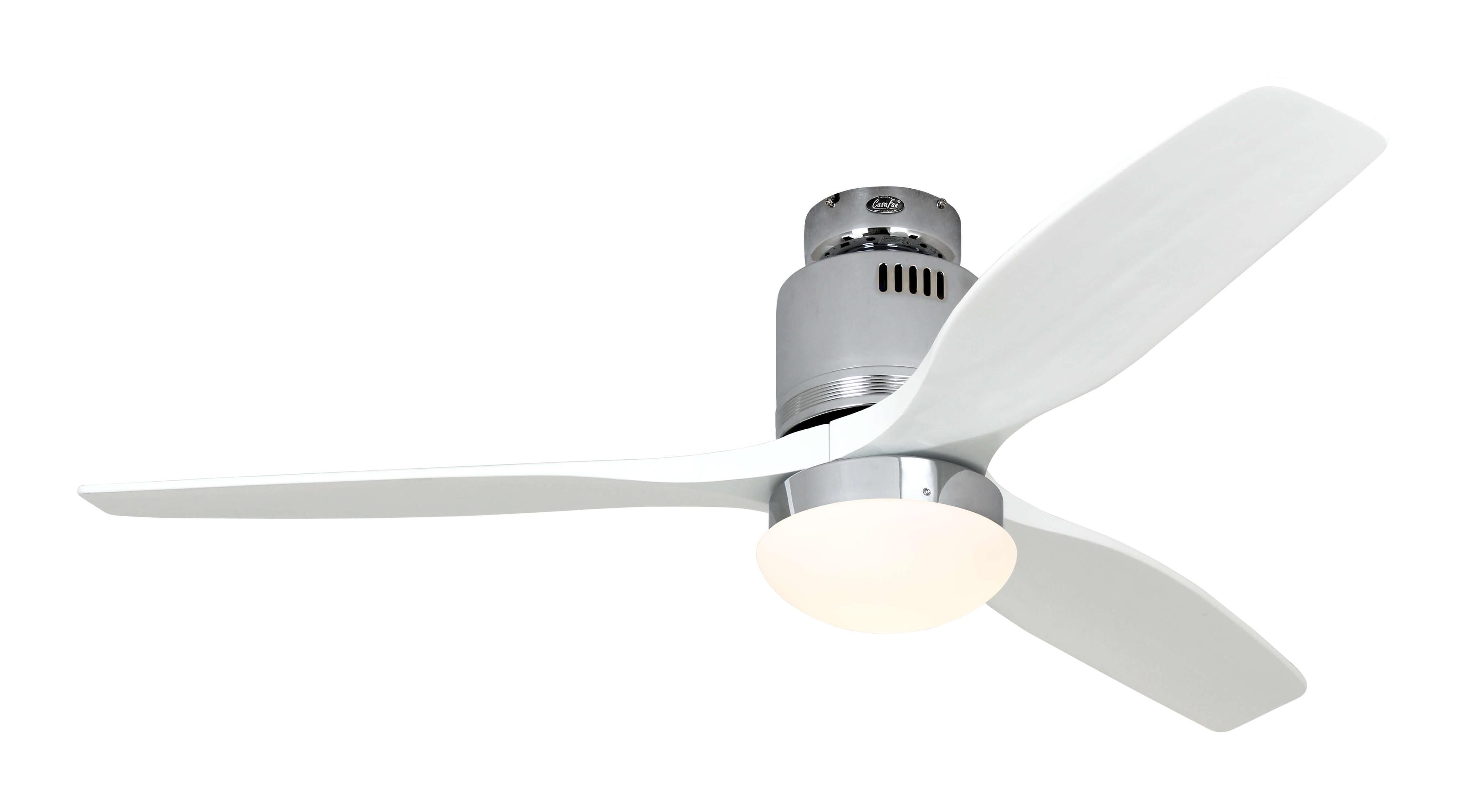 Ventilateur de plafond Aerodynamix Chrome Blanc