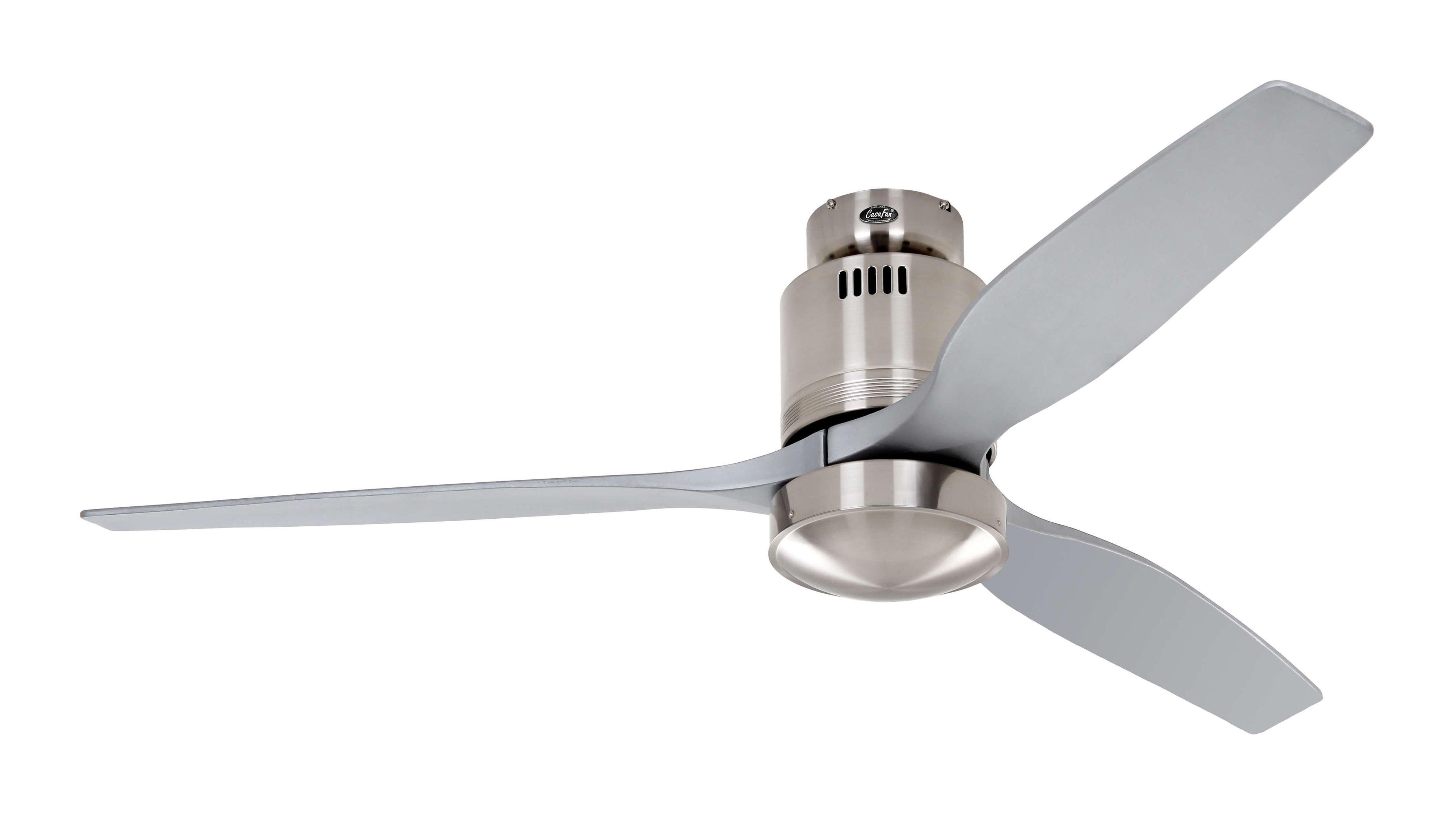 Ventilateur de plafond Aerodynamix Chrome brossé Argent