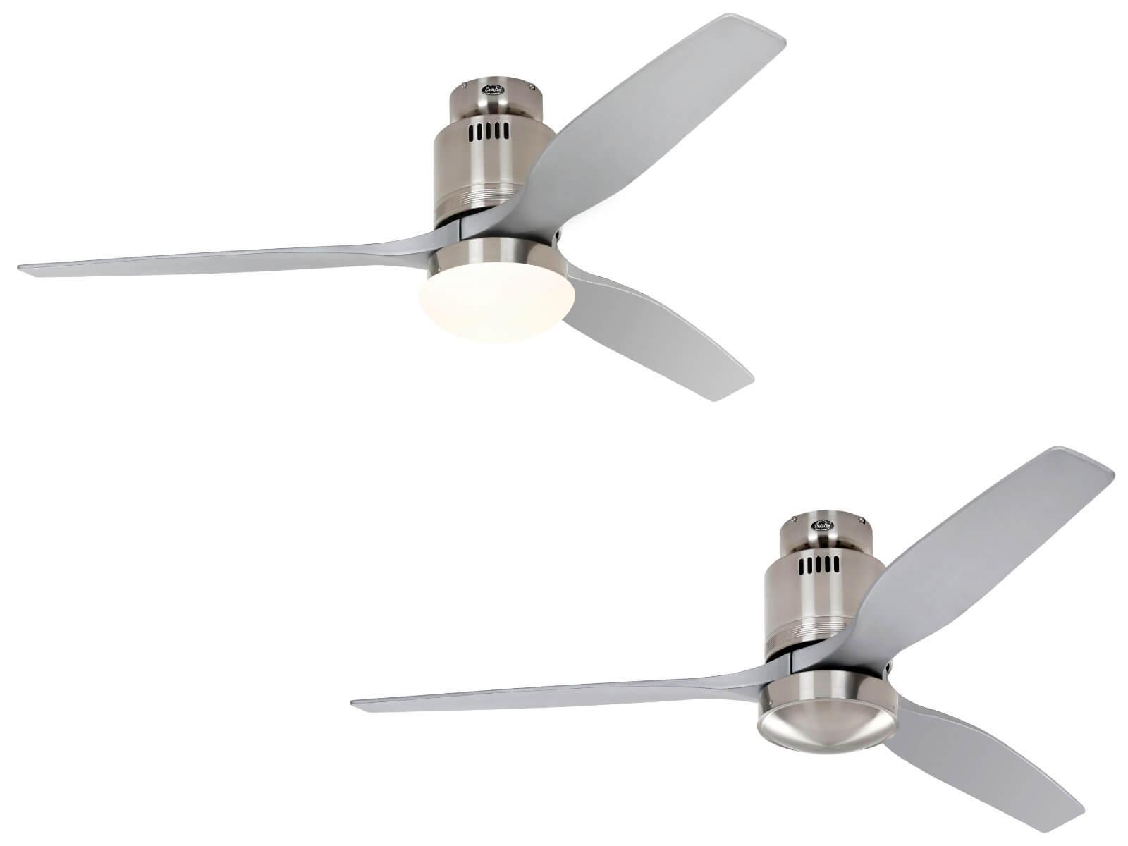 Dc Ceiling Fan Aerodynamix Eco Brushed Chrome Silver