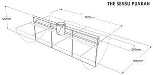 Energiespar Deckenventilator THE SENSU PUNKAH Blau – Bild 3